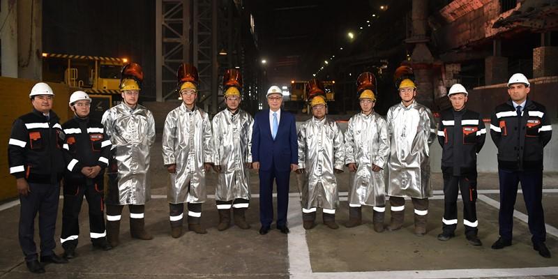 Глава государства посетил Актюбинский завод ферросплавов