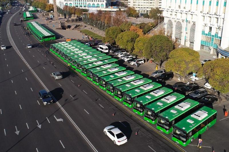 Биыл Алматының автобус паркі 100 пайыз жаңарады