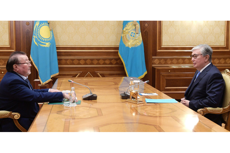 Head of State receives Chairman of Writers' Union of Kazakhstan