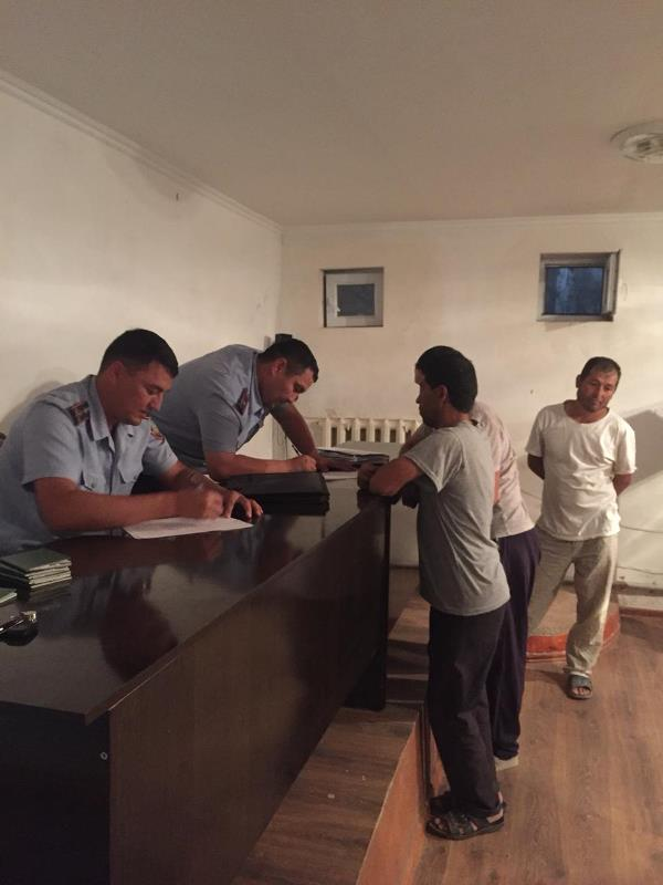 Түркістан облысында заңсыз жұмыс істеп жүрген шетелдіктер анықталды