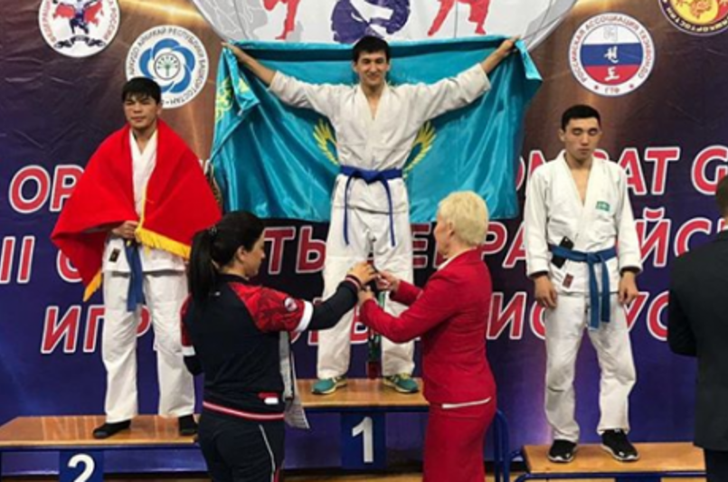 Kazakh athlete strikes gold at Asian Hand-To-Hand Combat Championship