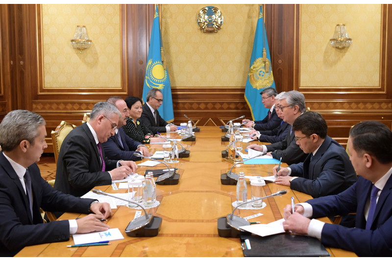 President of Kazakhstan receives Turkish FM