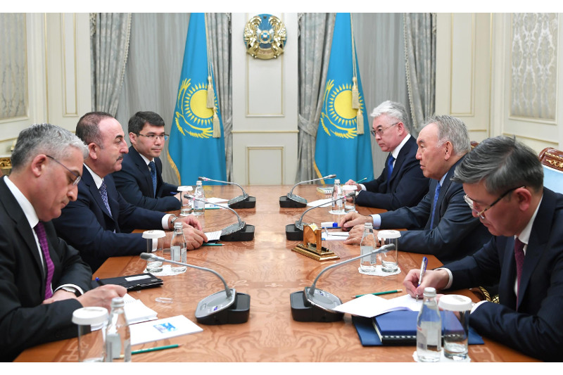 Nursultan Nazarbayev awarded status of honorary president of Cooperation Council of Turkic Speaking States