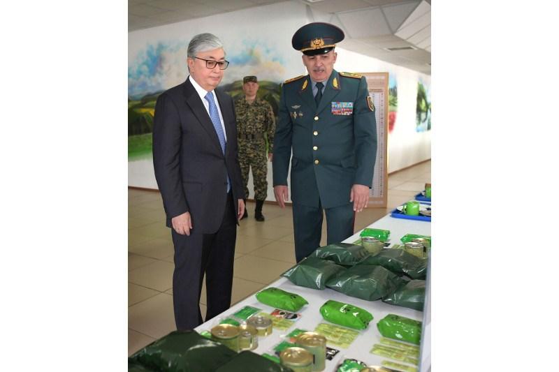Қасым-Жомарт Тоқаев Ұлттық ұланның әскери бөліміне барды