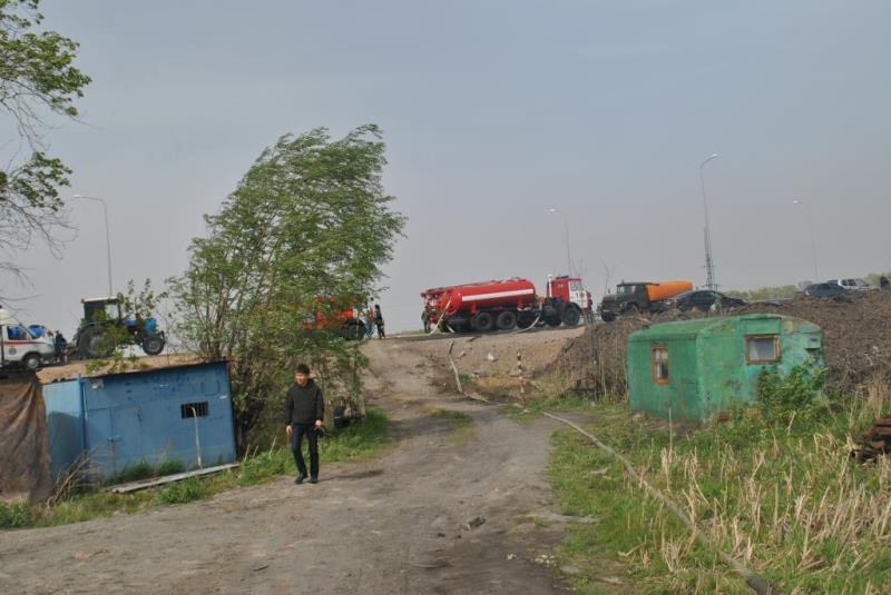 Семь дач сгорели в Петропавловске