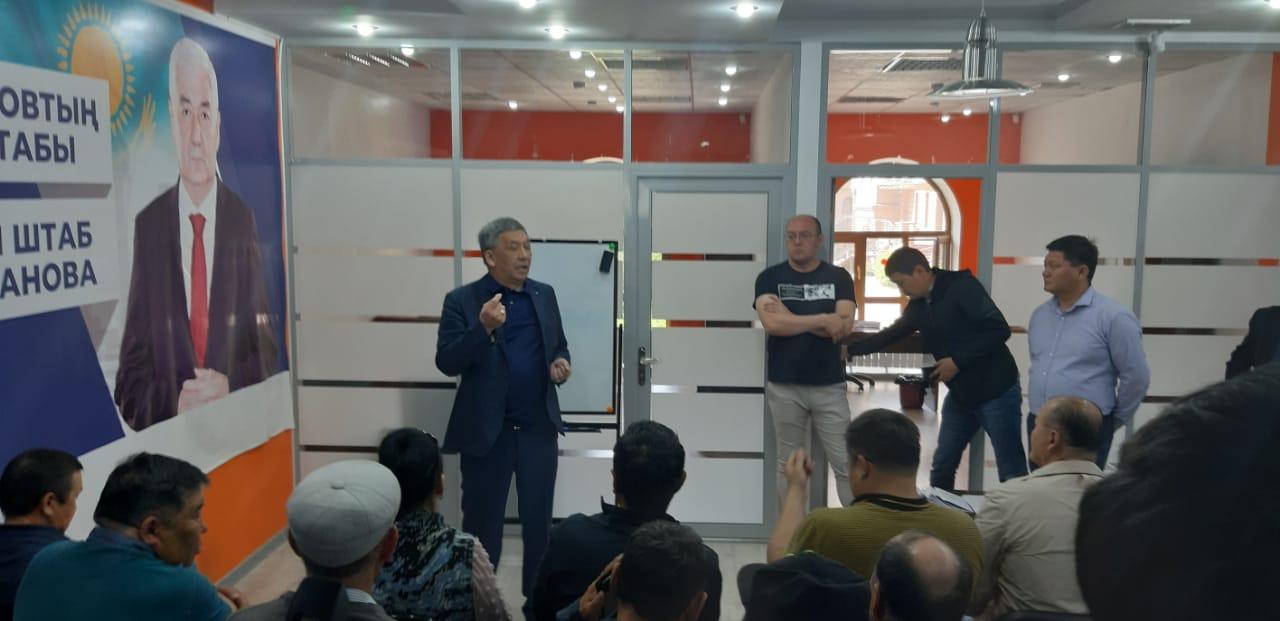 Әміржан Қосановтың штабы сайлау бақылаушыларына арнап семинар өткізді