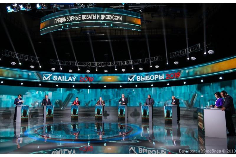 2019哈萨克斯坦总统大选:候选人参加电视辩论