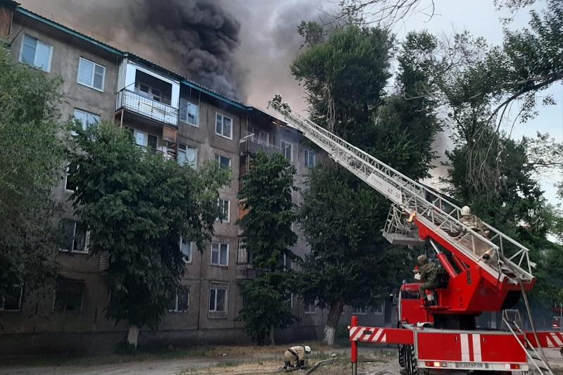 Пожар в многоэтажке Тараза ликвидирован - КЧС