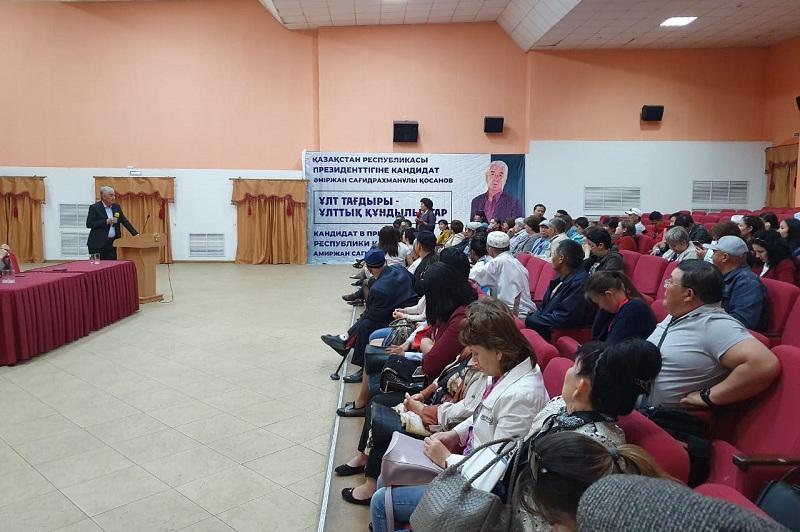Амиржан Косанов встретился с жителями Павлодарской области