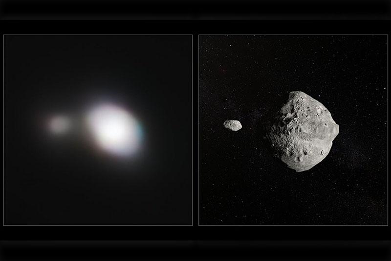 天文学家捕获飞掠地球的双星小行星图像