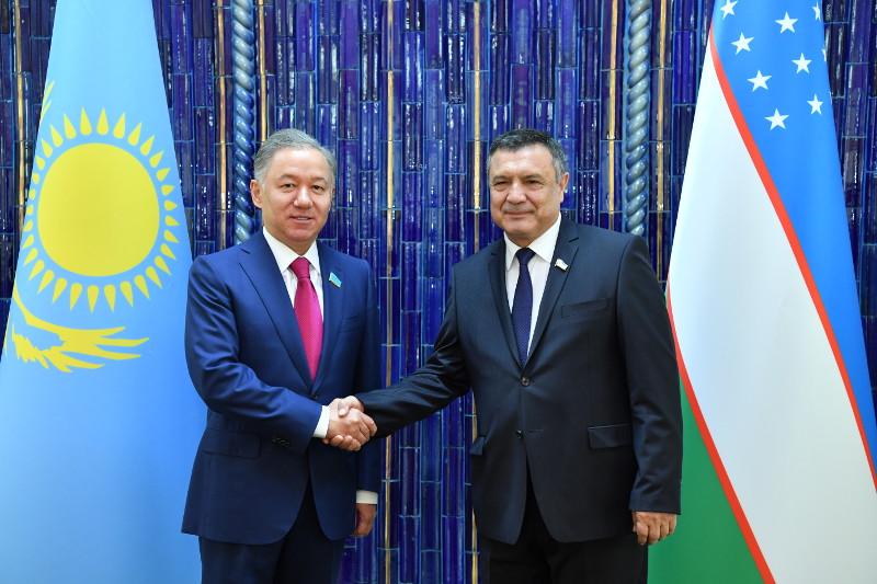 尼格马图林会见乌兹别克斯坦最高议会立法院议长
