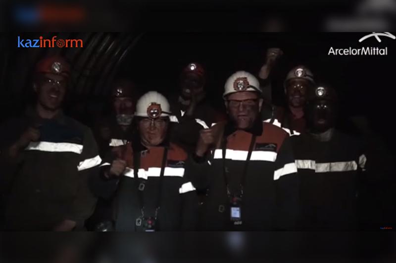 Карагандинские шахтеры запустили «взрывной» флэшмоб в поддержку Геннадия Головкина