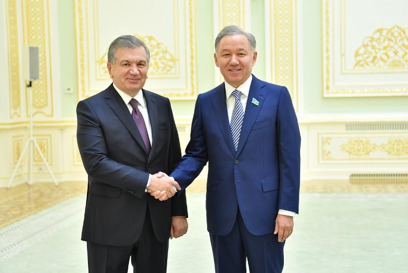 Kazakh Majilis Speaker, President of Uzbekistan discuss bilateral cooperation issues