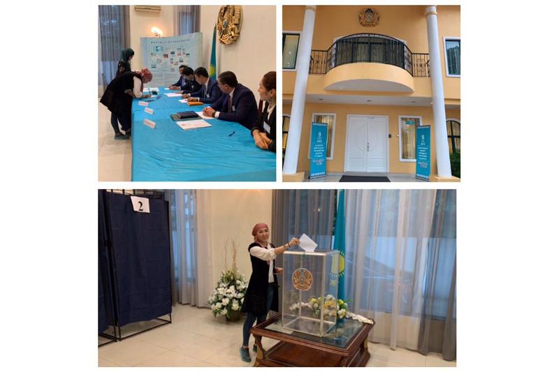 哈萨克斯坦海外同胞正积极参与总统选举投票