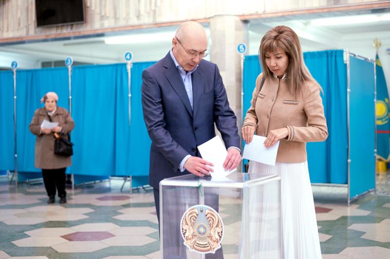 Кайрат Келимбетов проголосовал на выборах Президента РК