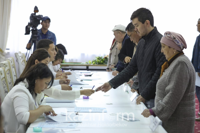 77% of voters cast votes in snap presidential election across Kazakhstan