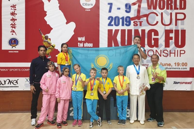 Казахстанские спортсмены завоевали золотые медали на Кубке мира по кунг-фу в Ереване