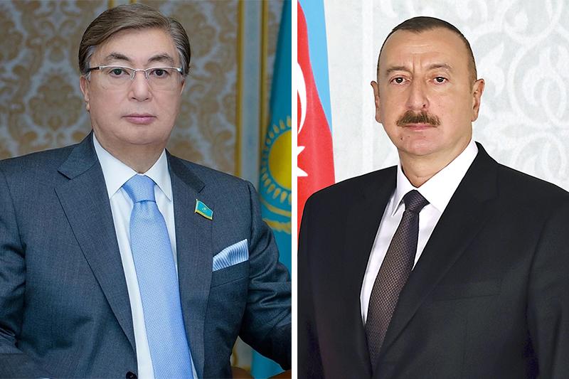 托卡耶夫总统与阿塞拜疆总统通电话