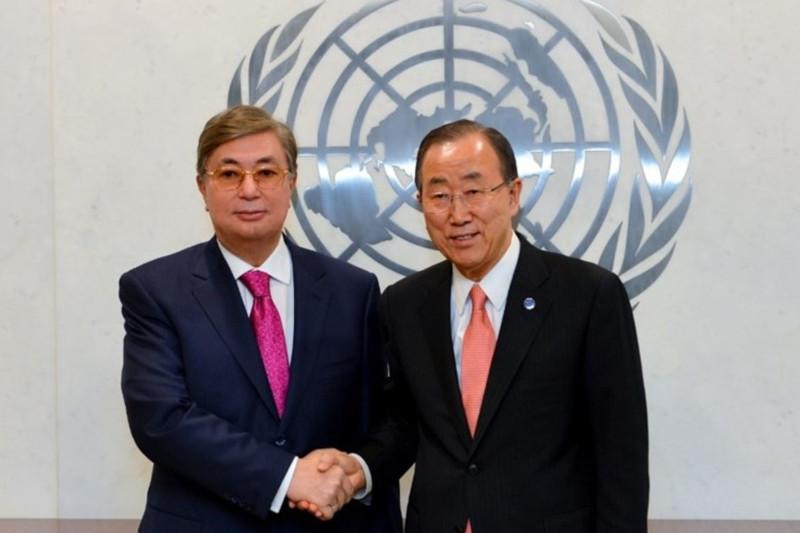 联合国前秘书长潘基文祝贺托卡耶夫当选哈萨克斯坦总统