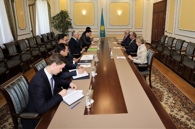 外交部长会见巴西参议院议员