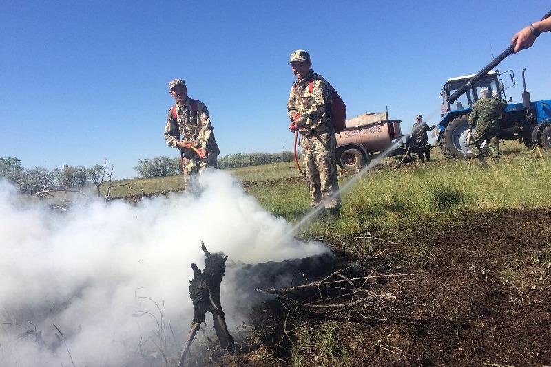 Пожар «тушили» в Наурзумском заповеднике