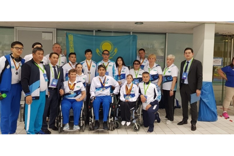 Kazakh paralympic swimmers pocket 17 medals in Berlin