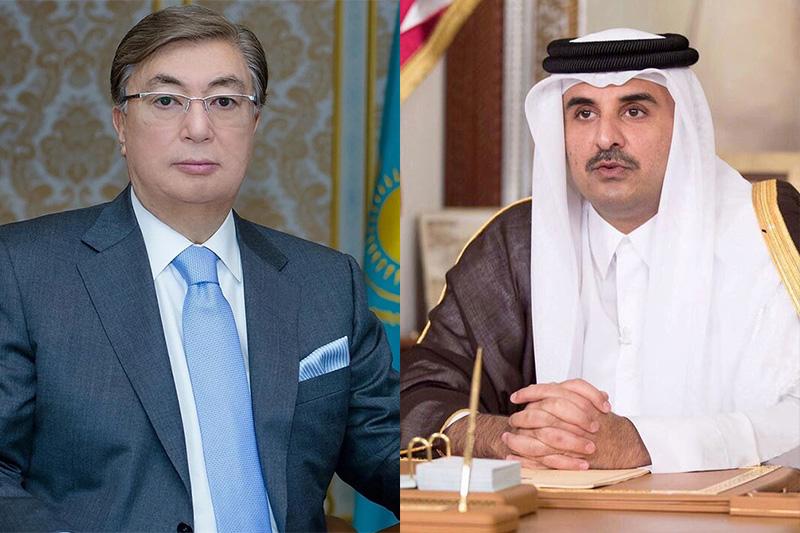 哈萨克斯坦总统与卡塔尔埃米尔通电话