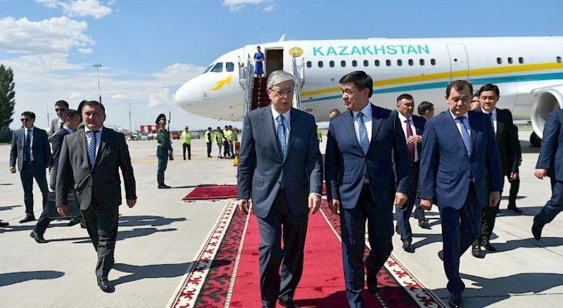 Kassym-Jomart Tokayev arrives in Bishkek for SCO Summit