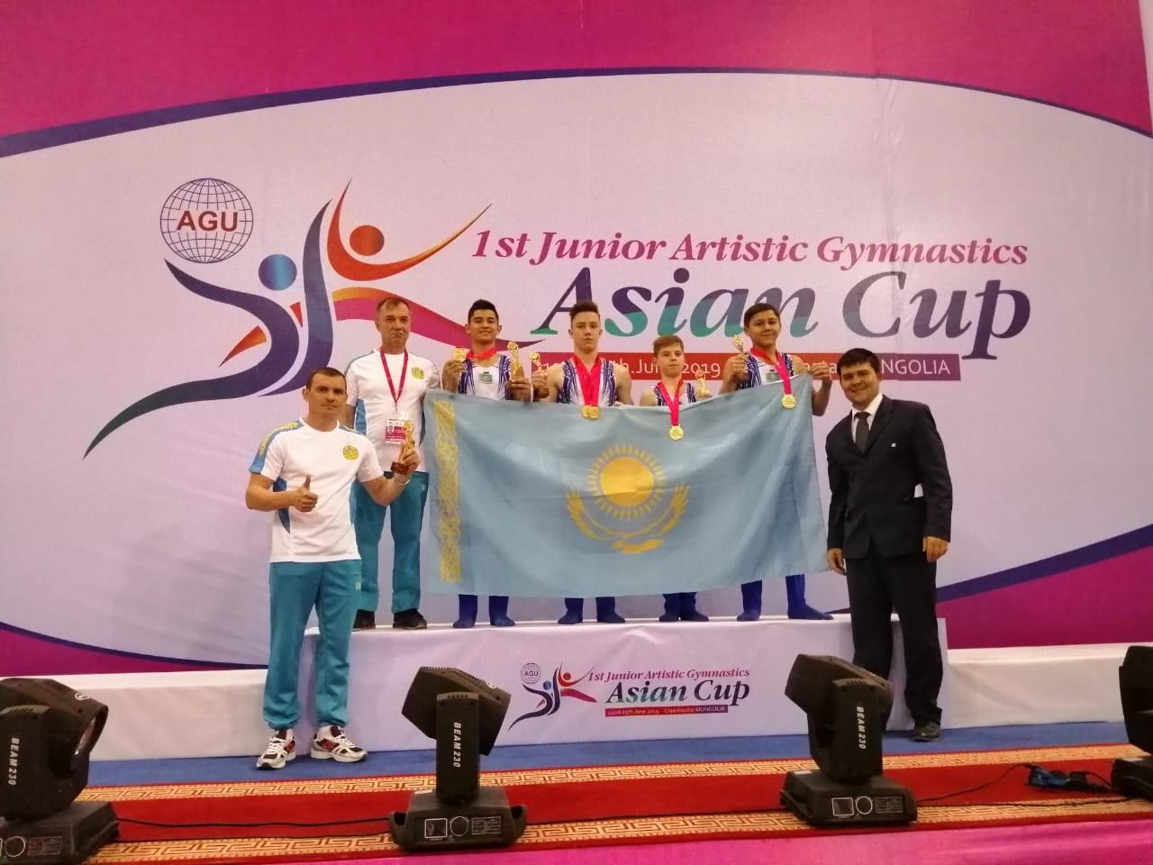 Казахстанские гимнасты победили на Кубке Азии среди юниоров