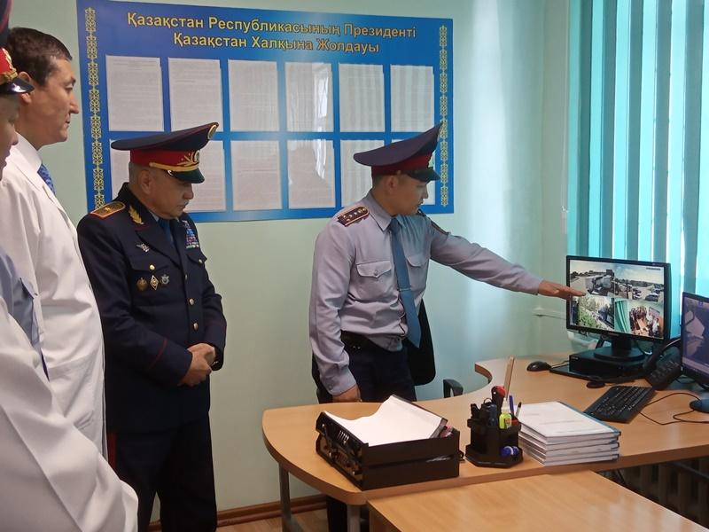 Опорный пункт полиции появился в Акмолинской областной больнице