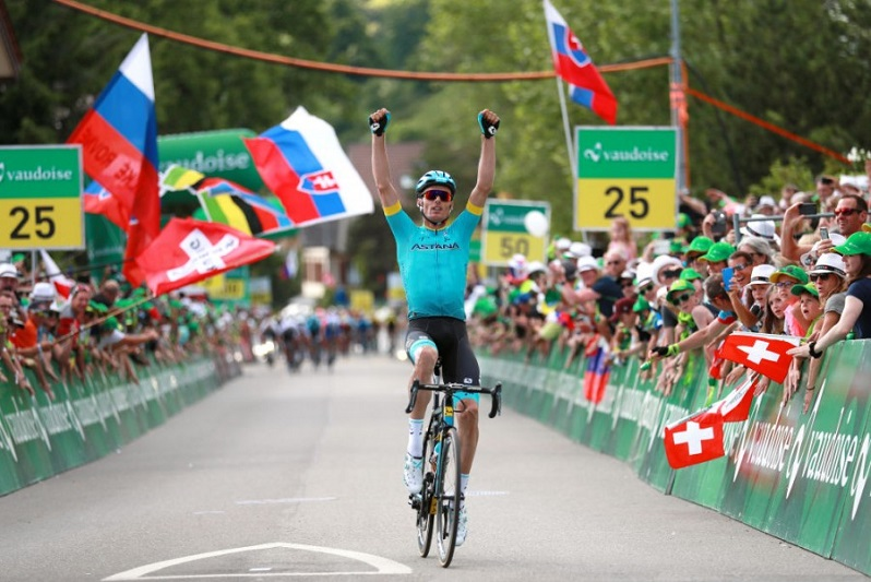 Astana's Sanchez wins solo after phenomenal team's work At Tour De Suisse Stage 2