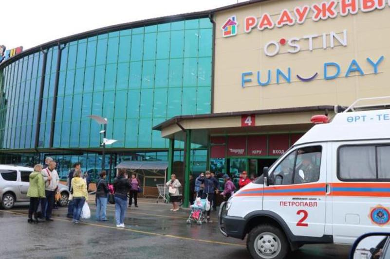 Құтқарушылар Петропавлдағы сауда орталығынан 250 адамды эвакуациялады