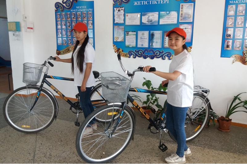 Велосипеды за лучшую технику чтения дарят павлодарским школьникам