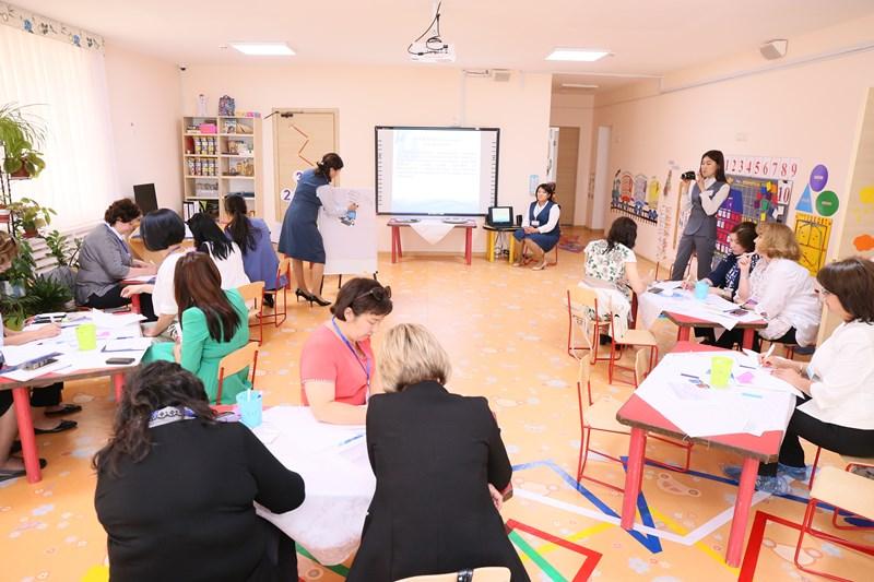 Kazakhstan's preschools educators learn innovative education techniques