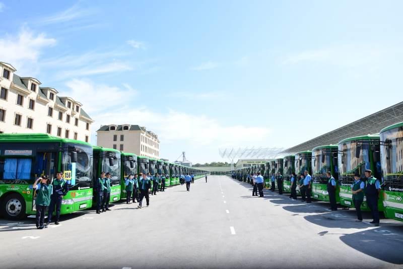 Шымкентте қала күніне орай алғашқы муниципалды автобус паркі ашылды