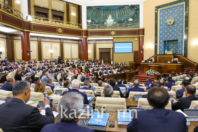 Joint session of Kazakh Parliament chambers underway in Nur-Sultan