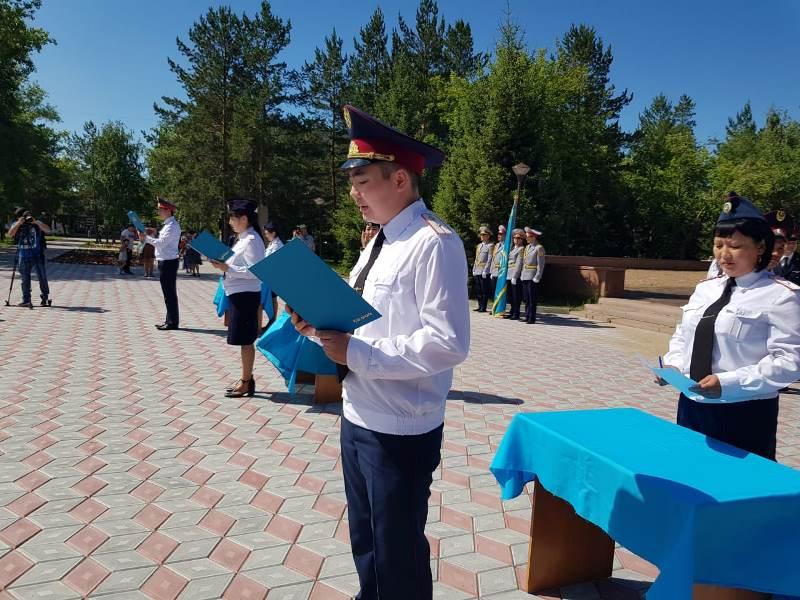 В Павлодаре молодые сотрудники ОВД приняли присягу