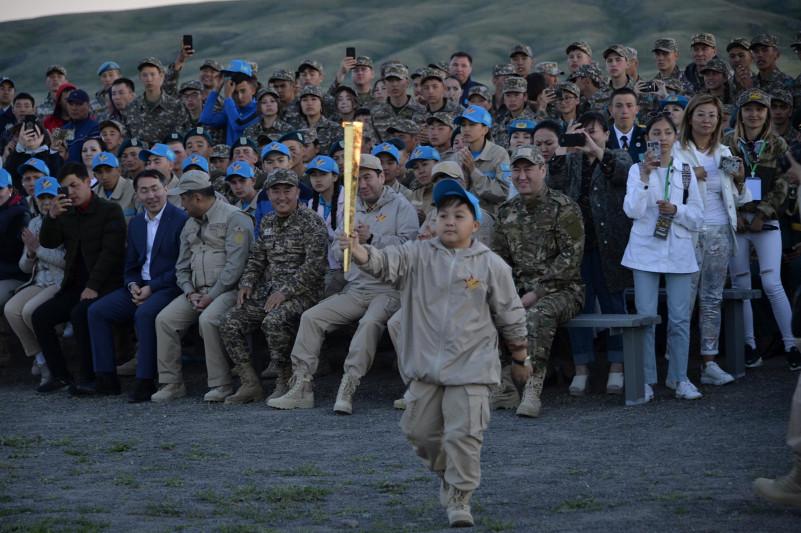 Ержан Максим приехал на военно-патриотический сбор «Айбын»