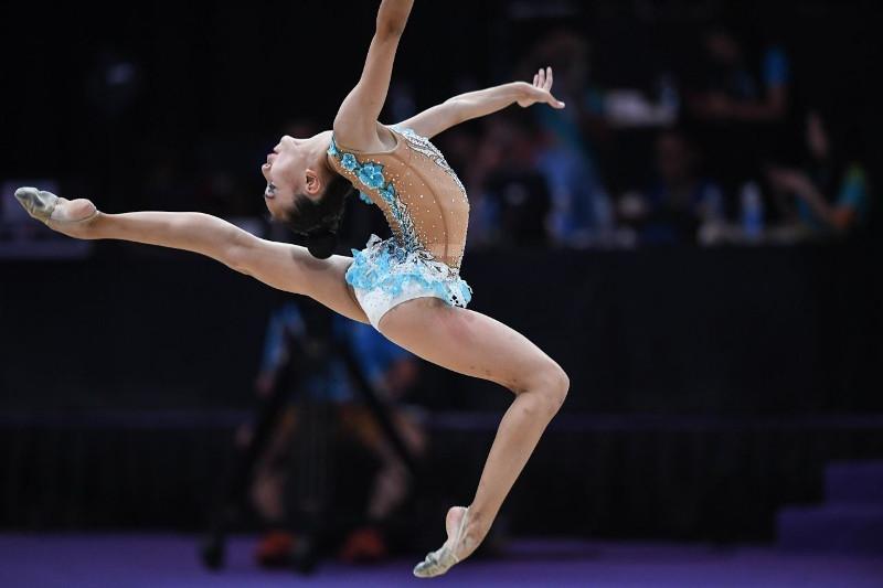 艺术体操亚锦赛:哈萨克斯坦选手摘得铜牌
