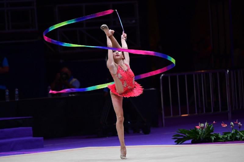 Kazakh gymnast claims 2 medals at Asian Rhythmic Gymnastics Championships