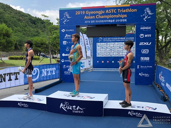 15-year-old Kazakhstani triathlete wins big in S.Korea