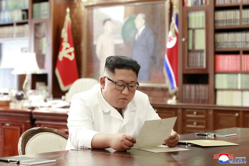 朝鲜领导人金正恩收到美国总统特朗普的亲笔信