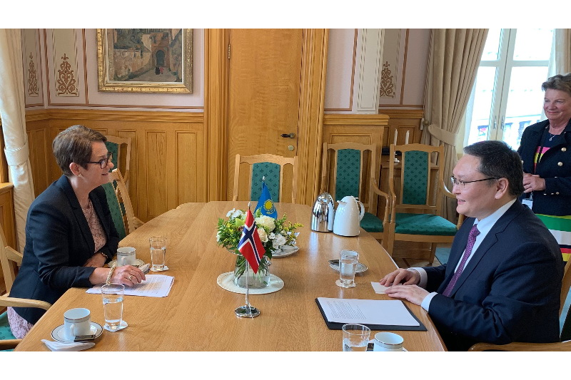 Kazakh Ambassador to Norway paid a courtesy call on the Storting President