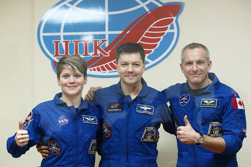 Soyuz MS-11 spacecraft with 3 ISS crewmembers onboard lands in Kazakhstan