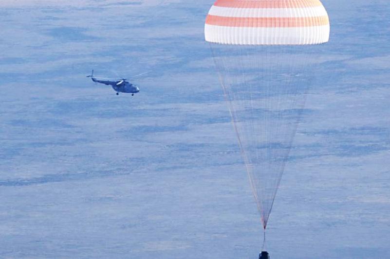 Экипаж космического корабля «Союз МС-11» благополучно вернулся на Землю