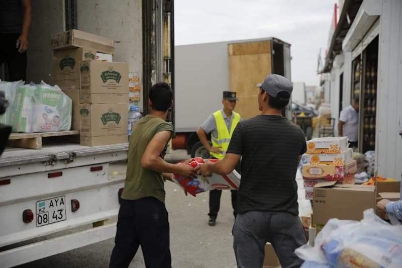 20 тонн гуманитарного груза собрано в Атырау для жителей Арыси