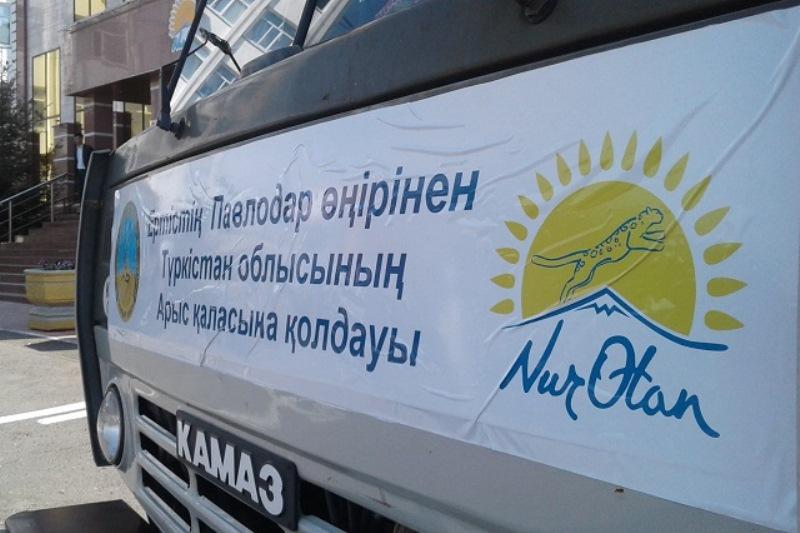 Павлодарлық нұротандықтар Арыс тұрғындарына 90 тонна гуманитарлық көмек жөнелтті
