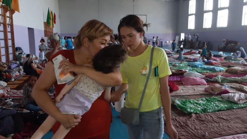 Совет по защите прав детей при партии «Nur Otan» помогает эвакуированным жителям Арыси