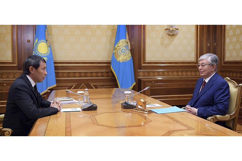 Касым-Жомарт Токаев принял главу Союза кинематографистов Казахстана Ермека Турсунова