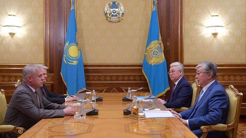 托卡耶夫总统会见白俄罗斯安全会议国务秘书